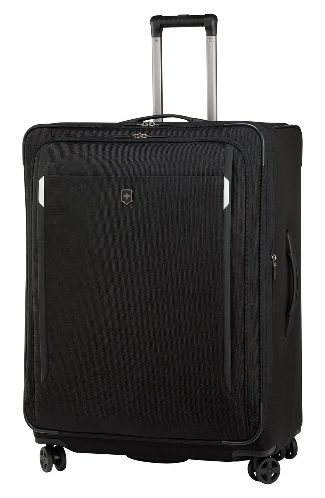 'WT 5.0' Dual Caster Wheeled Packing Case,                         Main,                         color, Black