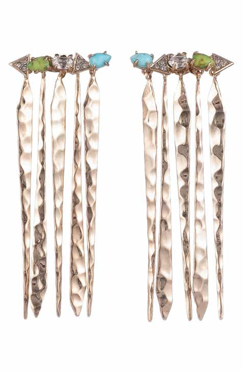 3e9bbc399 Alexis Bittar Hammered Fringe Drop Earrings