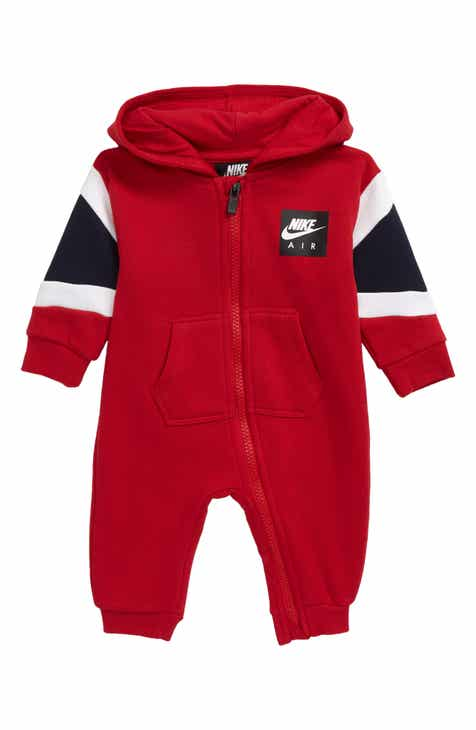 b87b4651fc2 Nike Air Hooded Fleece Romper (Baby)