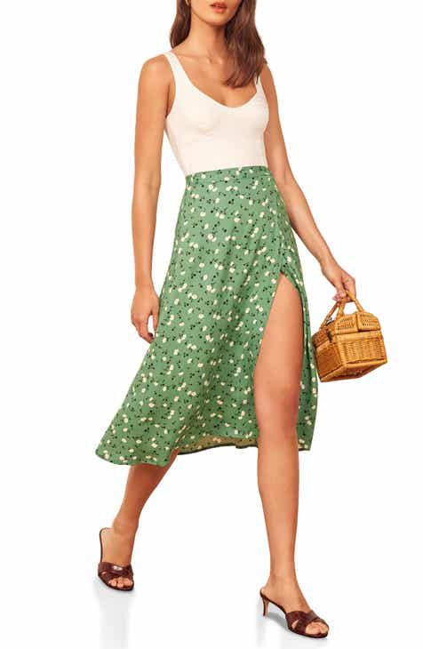 c219f1d7e4 Reformation Betty Print Wrap Skirt (Regular & Plus Size)