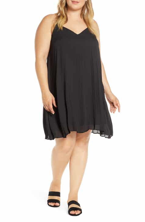 Gibson x Hot Summer Nights Almost Ready Pleated Minidress (Plus Size) (Nordstrom Exclusive)