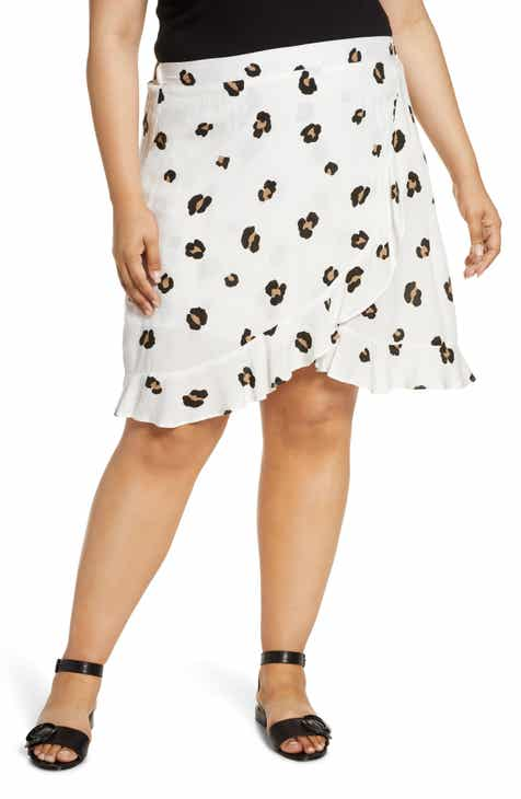 6006e810c1 Gibson x Hot Summer Nights Two Peas Ruffle Faux Wrap Skirt (Plus Size)  (Nordstrom Exclusive)