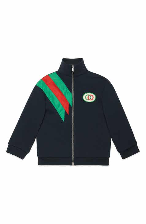 1925f3d7a Gucci Logo Patch Zip Jacket (Little Boys & Big Boys)
