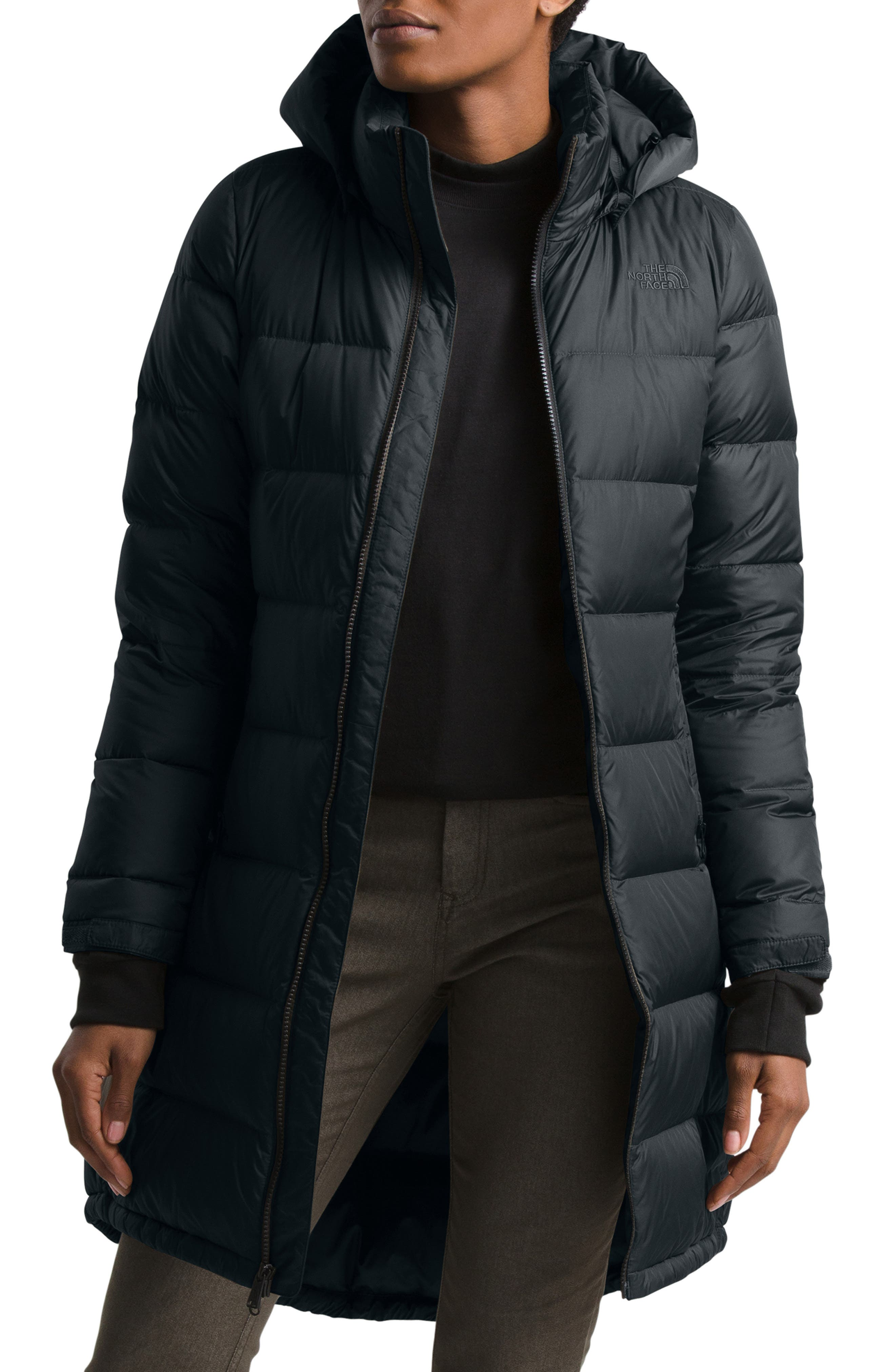 CROYEE Womens Winter Long Down Coat Puffer Coat with Removable Hood