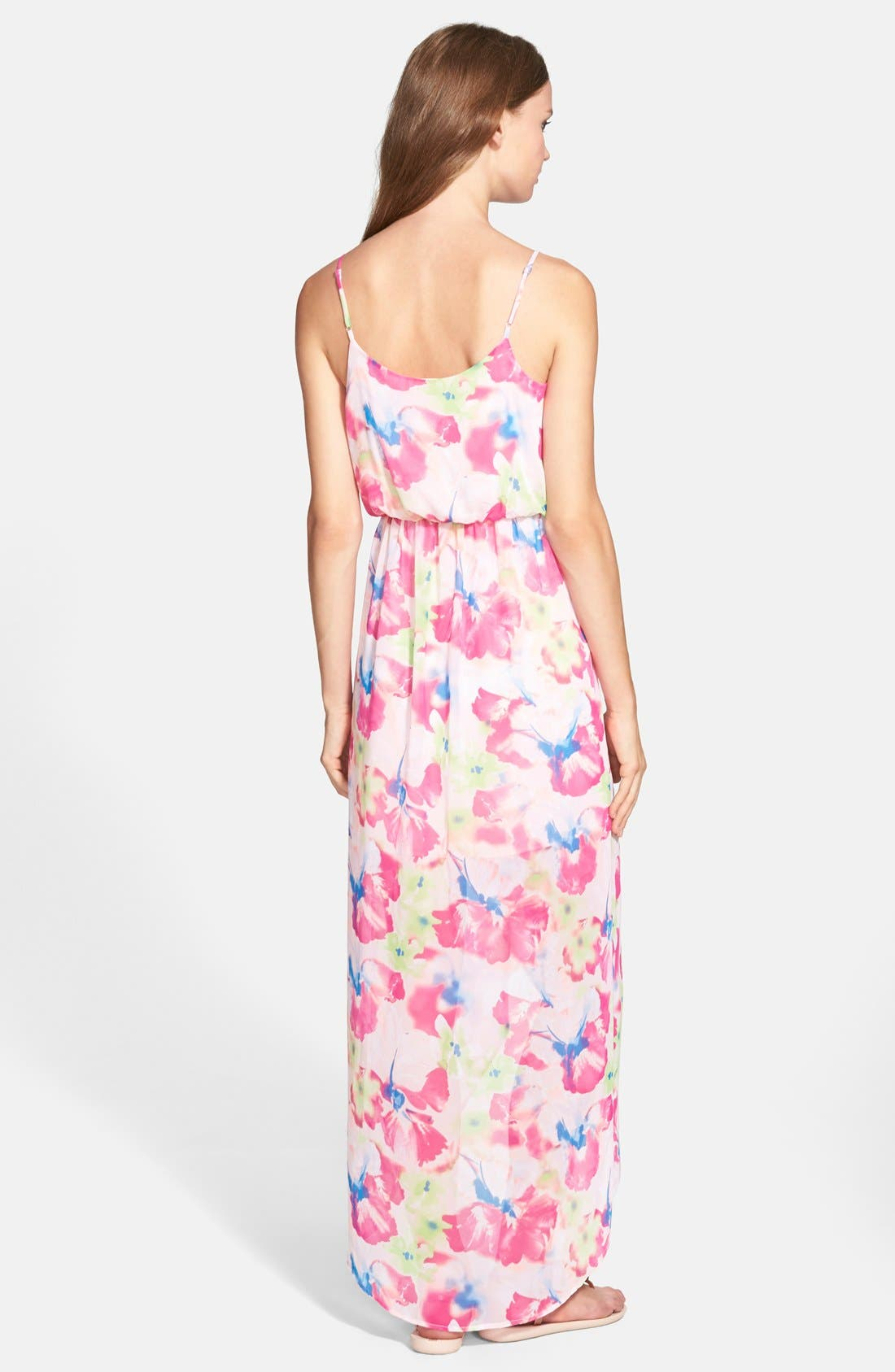 Alternate Image 2  - Lush Tulip Hem Maxi Dress