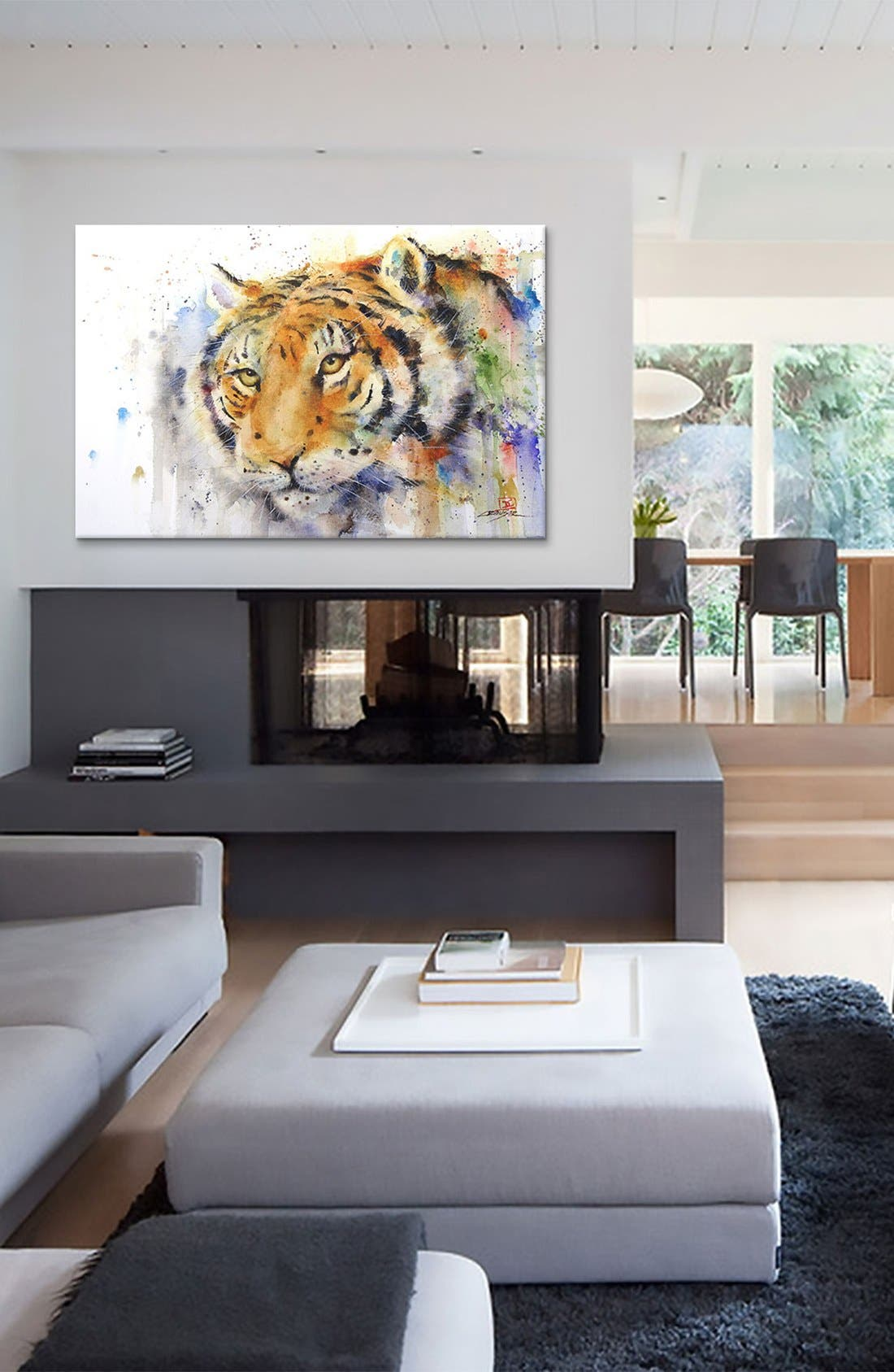 Alternate Image 2  - iCanvas 'Tiger - Dean Crouser' Giclée Print Canvas Art