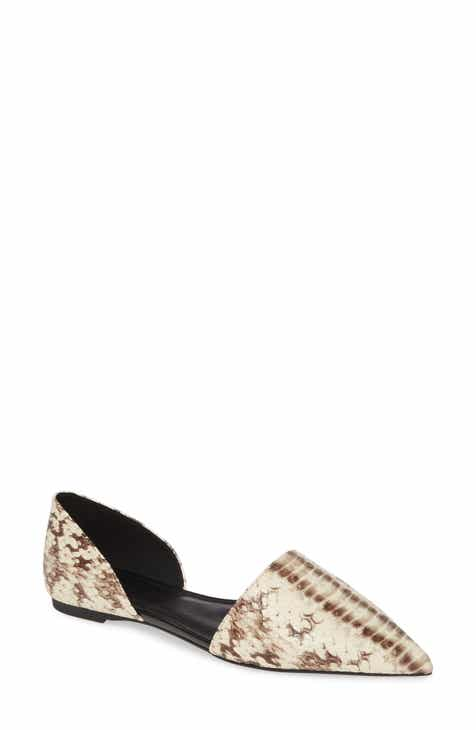 148b0043b41cb MICHAEL Michael Kors Mila d'Orsay Flat (Women). $110.00. Product Image.  BLACK LEATHER MULTI