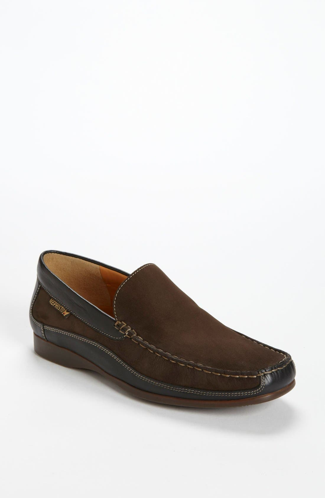 'Baduard' Loafer,                             Main thumbnail 1, color,                             Brown Nubuck/ Brown Suede