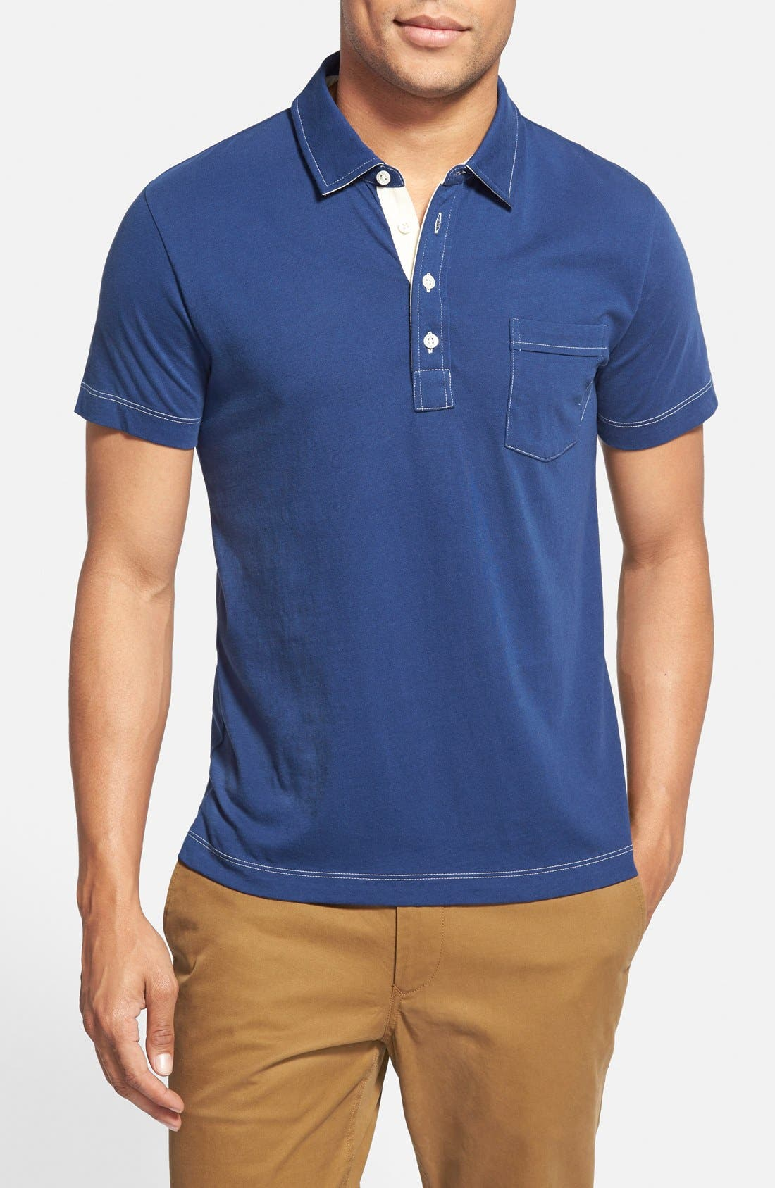 Pensacola Slim Fit Polo,                             Main thumbnail 1, color,                             Blue