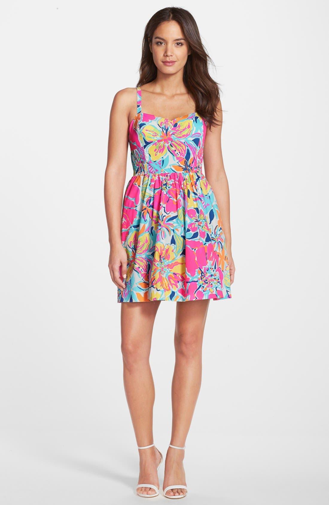 Alternate Image 3  - Lilly Pulitzer® 'Christine' Print Poplin Fit & Flare Dress