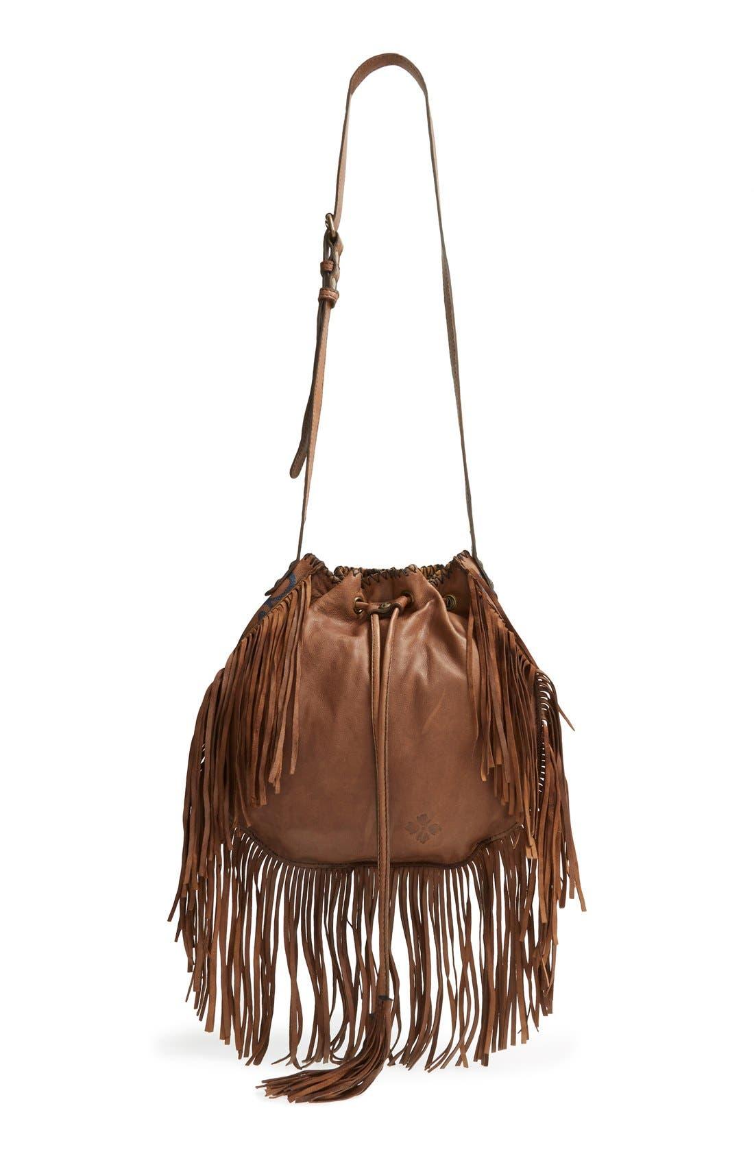 Alternate Image 1 Selected - Patricia Nash 'Carrara' Drawstring Leather Crossbody Bag