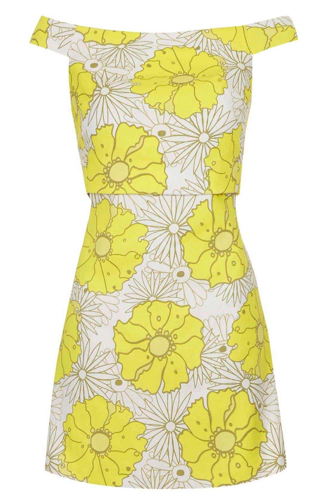 Alternate Image 3  - Topshop 'Abigail' Floral Print Off the Shoulder Dress