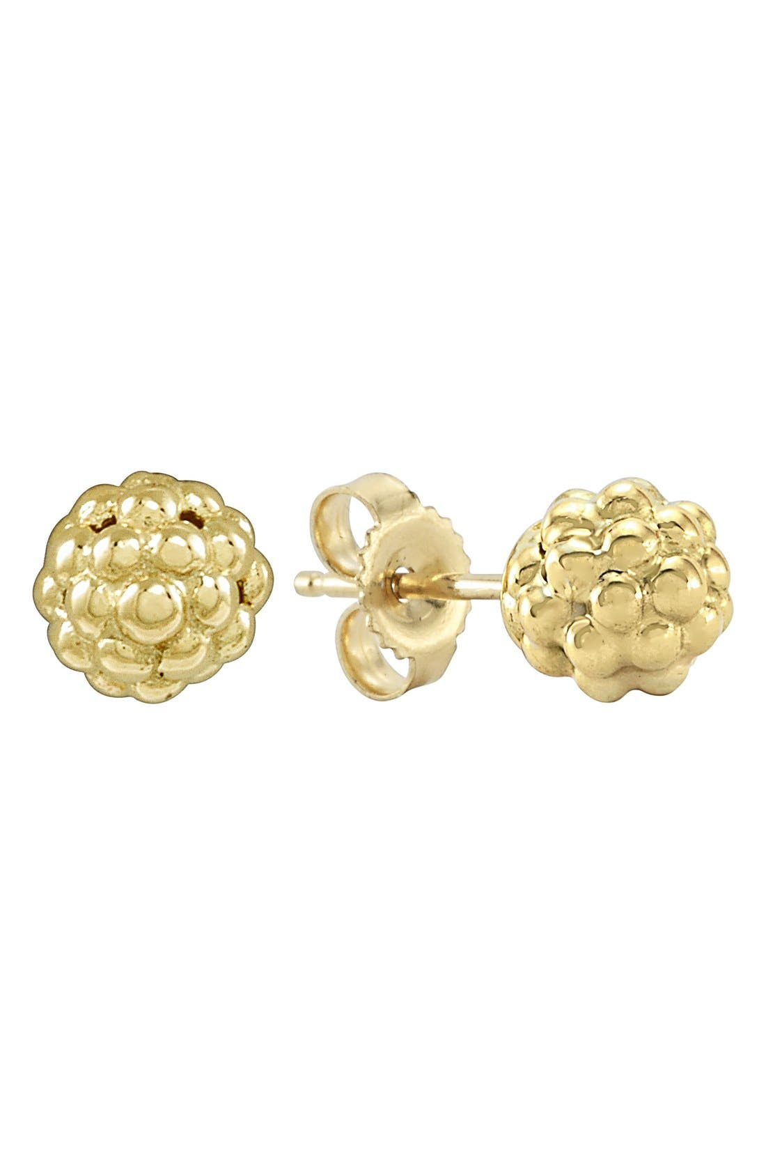 'Caviar Icon' Stud Earrings,                         Main,                         color, Gold