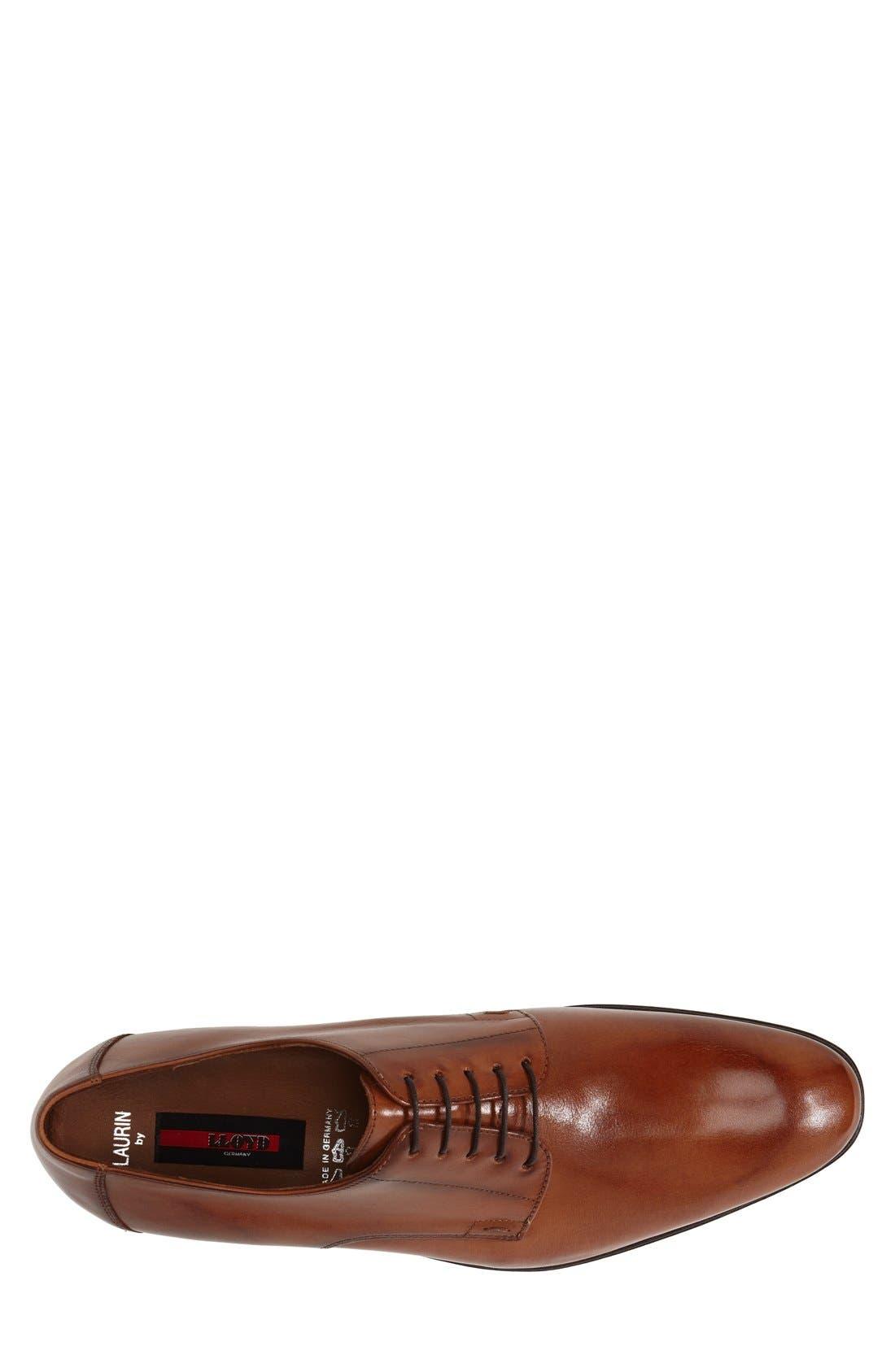 'Laurin' Plain Toe Derby,                             Alternate thumbnail 3, color,                             Light Brown
