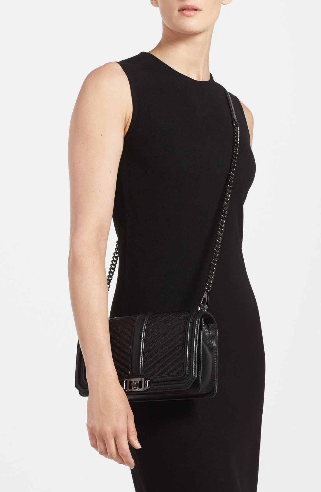 Alternate Image 2  - Rebecca Minkoff 'Chevron Quilted Love' Crossbody Bag