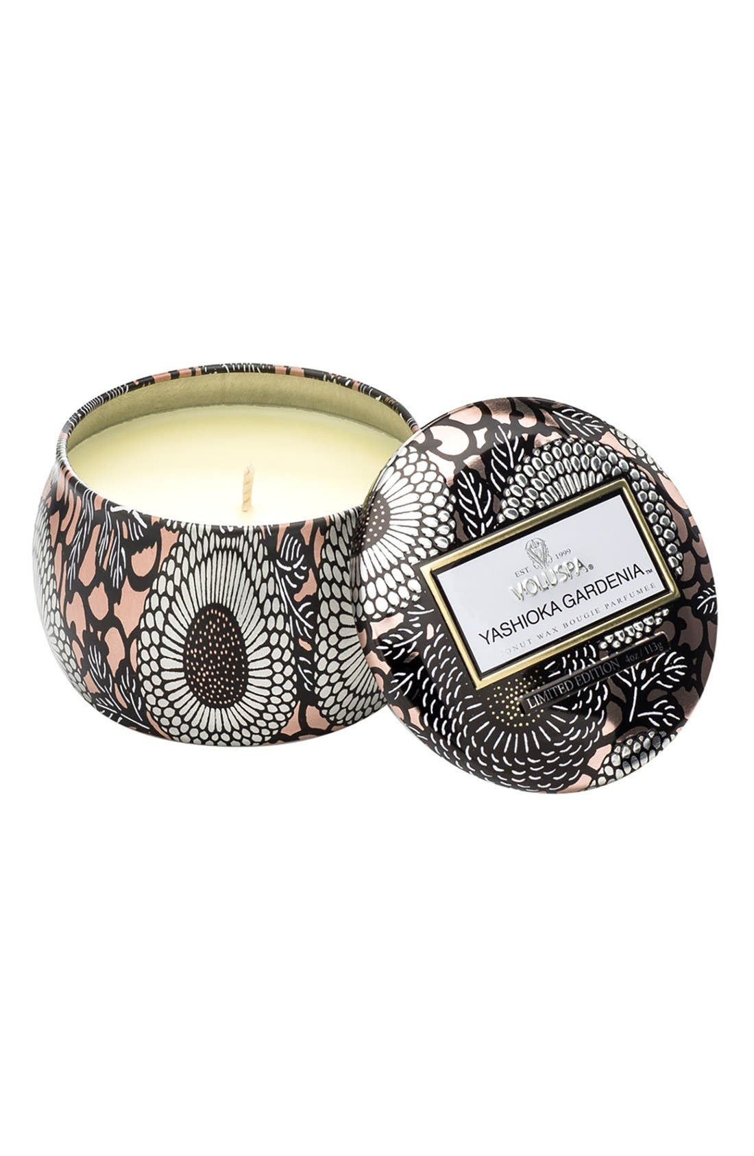 Alternate Image 1 Selected - Voluspa Japonica - Yashioka Gardenia Petite Decorative Tin Candle (Limited Edition)