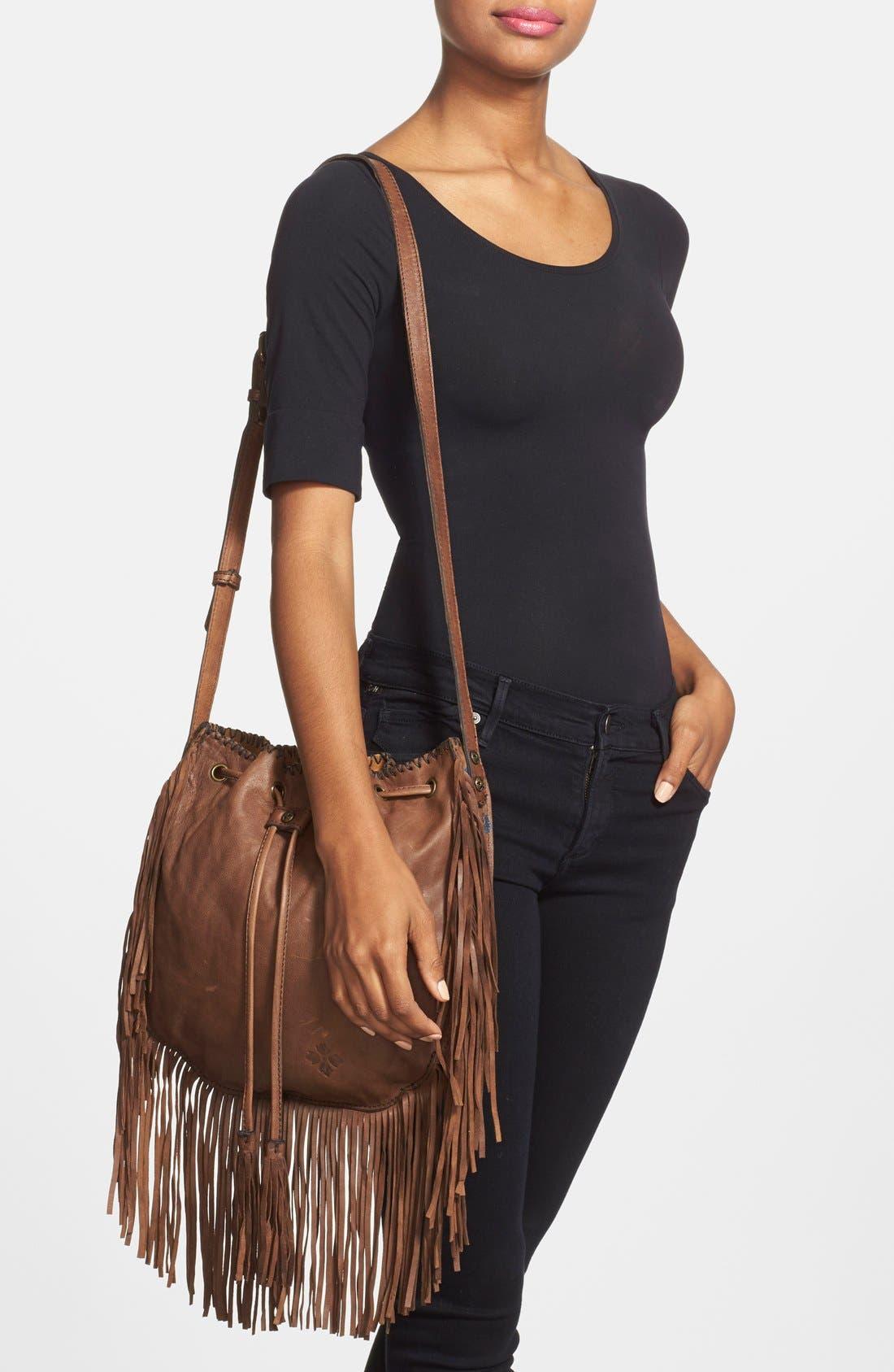 Alternate Image 2  - Patricia Nash 'Carrara' Drawstring Leather Crossbody Bag
