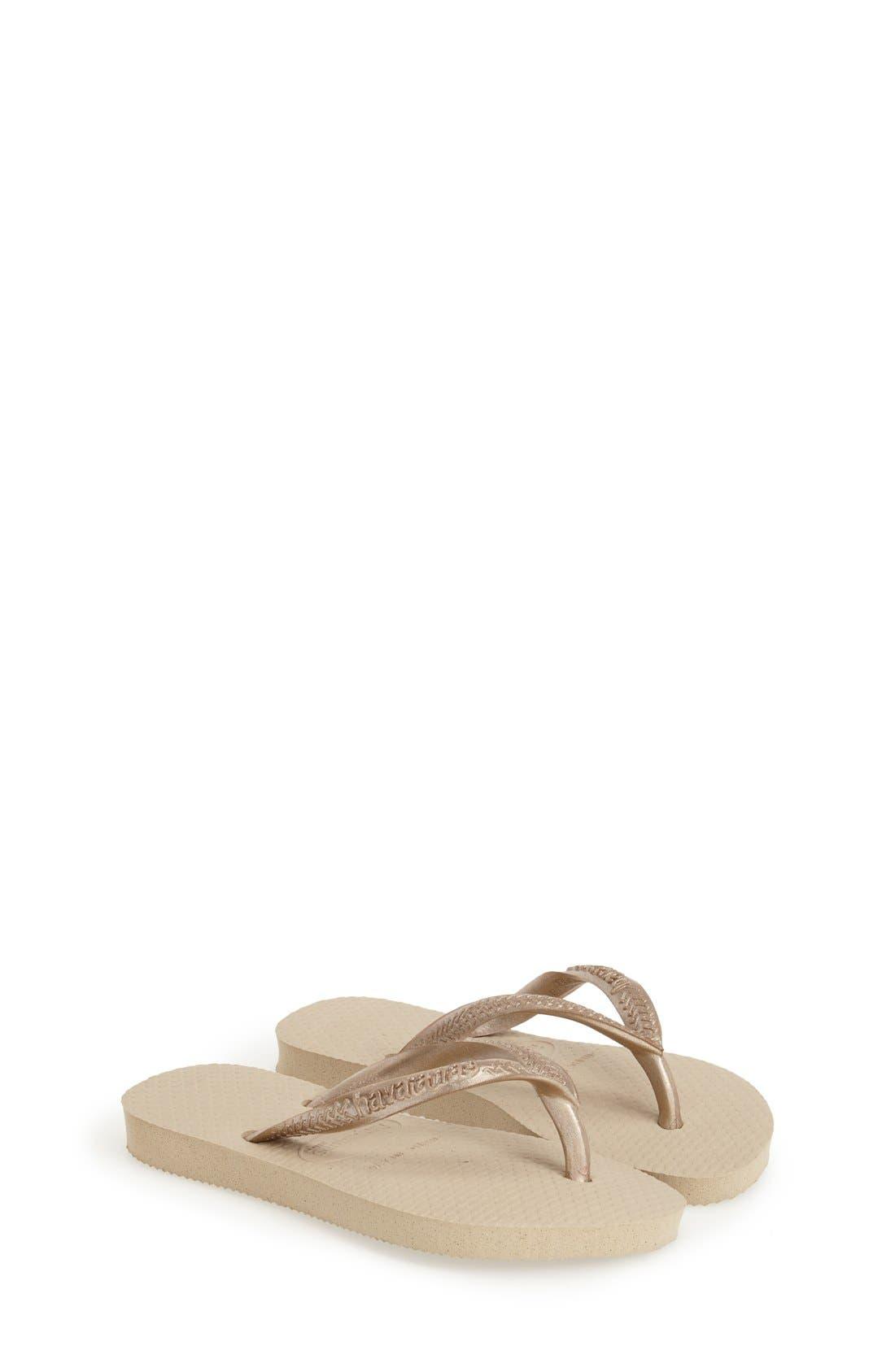 'Slim' Flip Flop,                         Main,                         color, Sand/ Light Gold