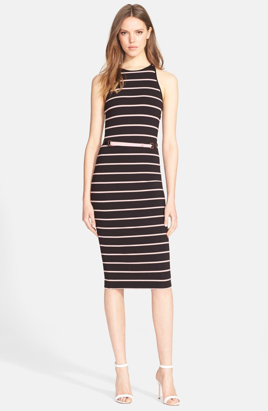 Alternate Image 1 Selected - Ted Baker London 'Linn' Stripe Midi Dress