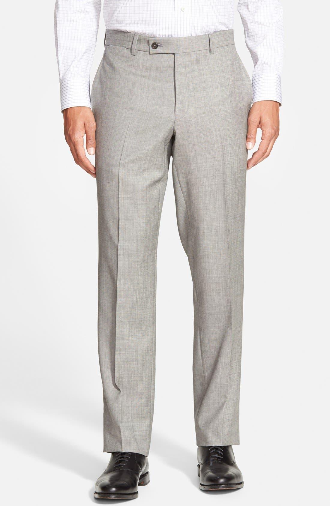 Jones Trim Fit Wool Suit,                             Alternate thumbnail 6, color,                             Medium Grey
