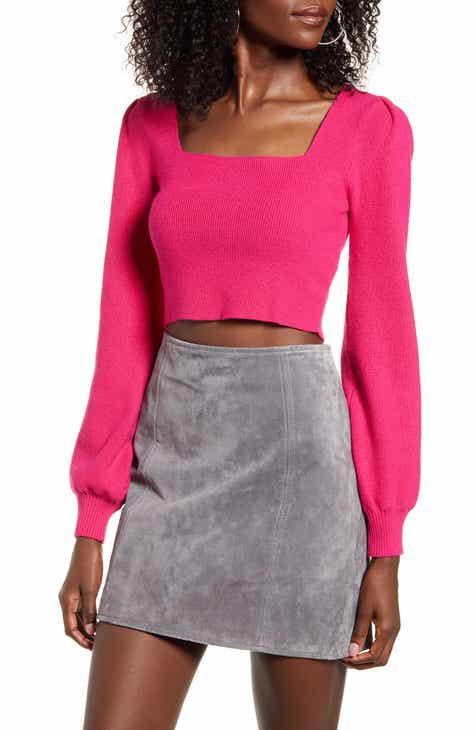 4SI3NNA Lina Square Neck Crop Sweater
