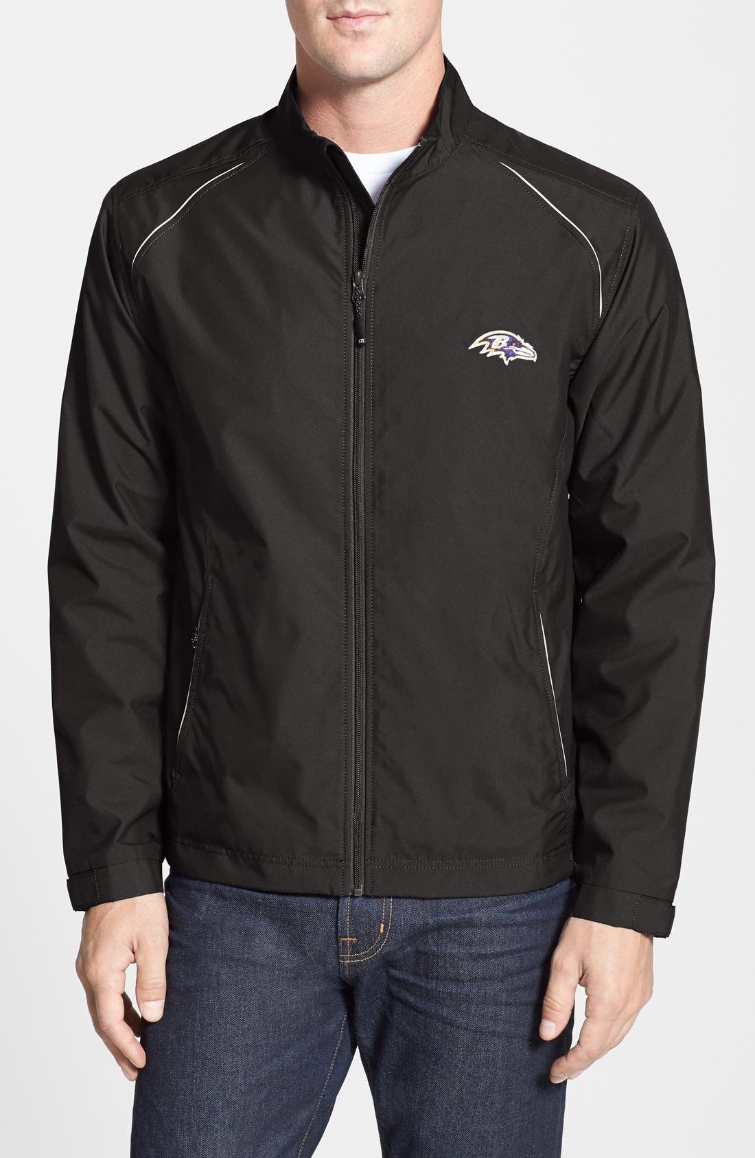 Alternate Image 1 Selected - Cutter & Buck Baltimore Ravens - Beacon WeatherTec Wind & Water Resistant Jacket