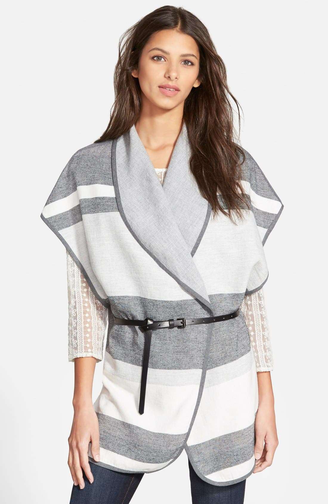 Alternate Image 1 Selected - Hinge Stripe Cape