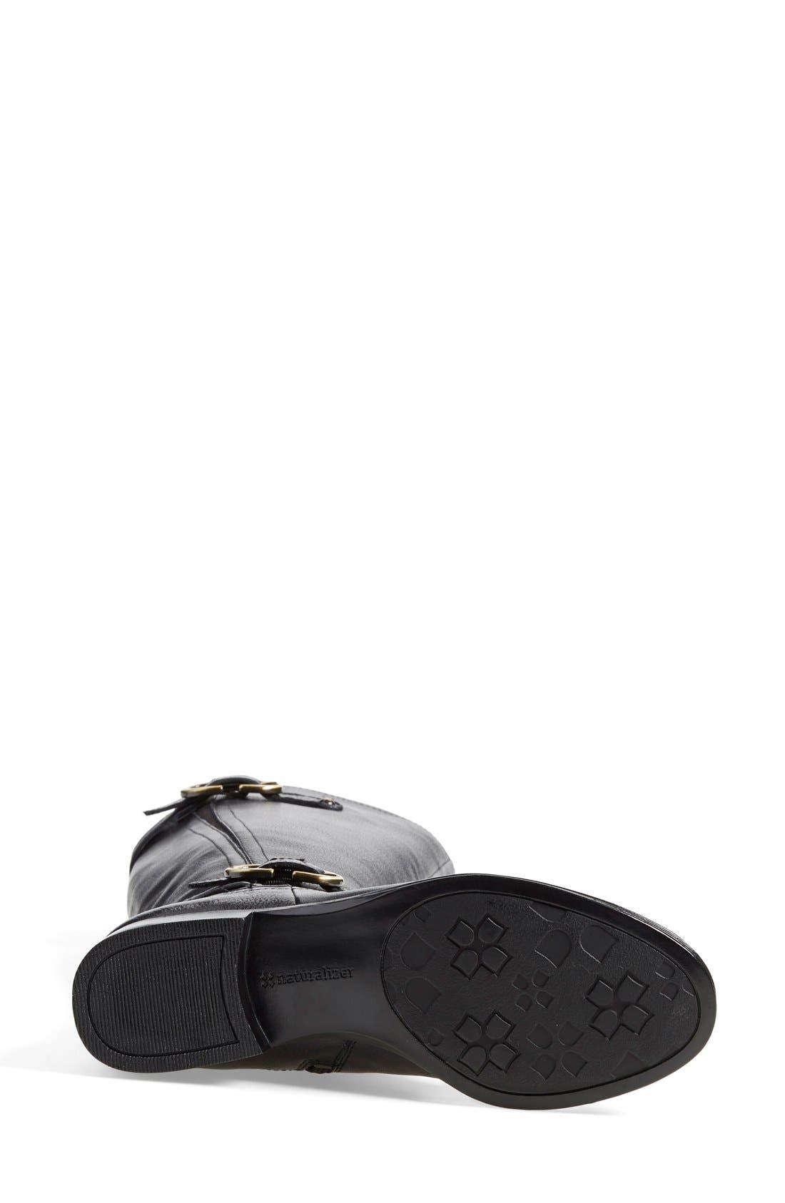 'Jennings' Knee High Boot,                             Alternate thumbnail 4, color,                             Black Leather