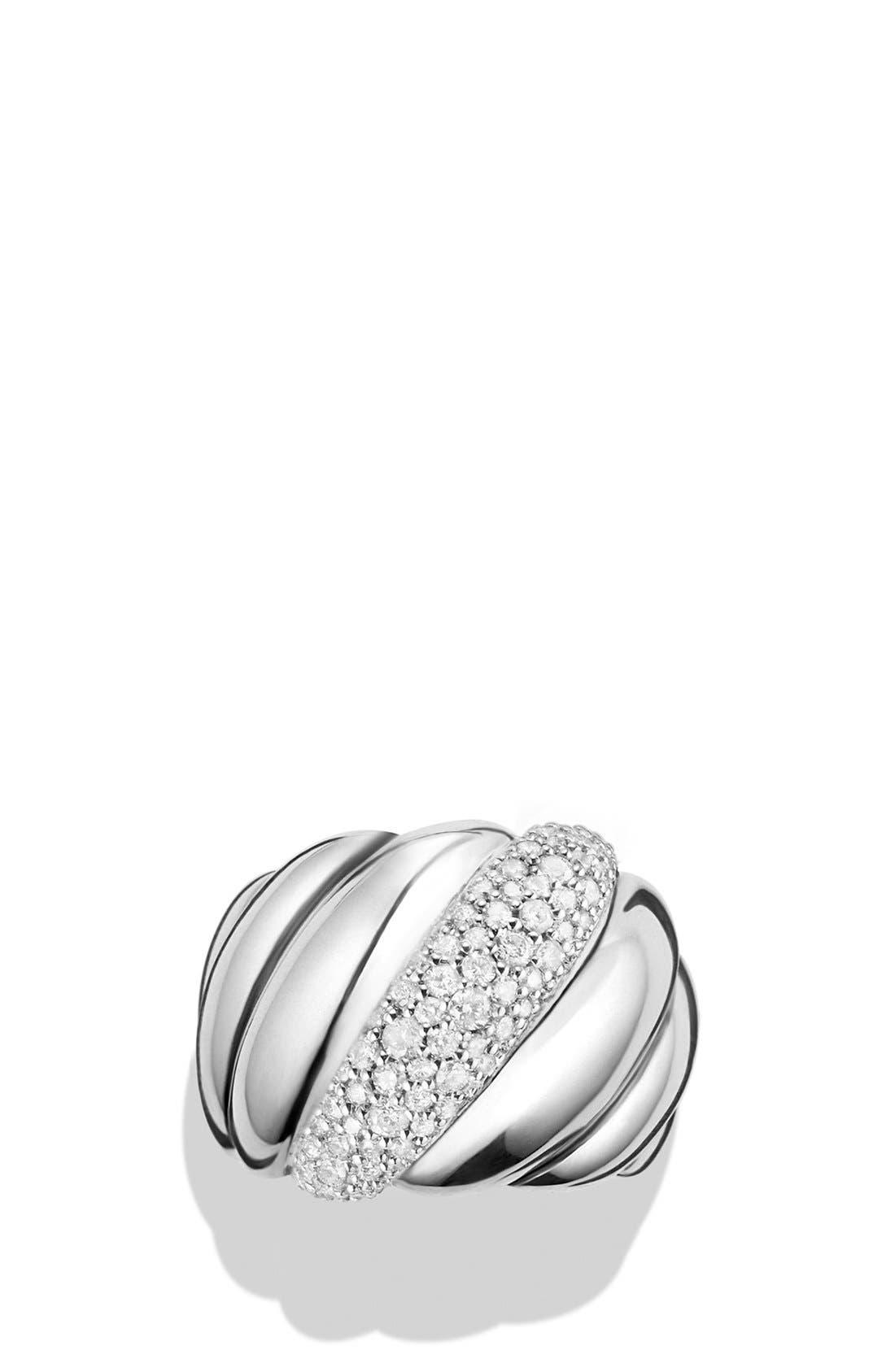 'Hampton Cable' Ring with Diamonds,                             Alternate thumbnail 2, color,                             Diamond