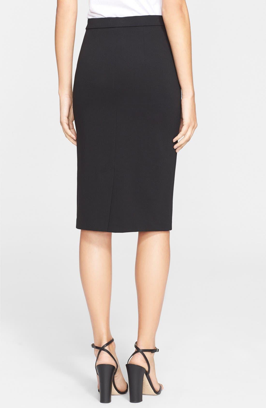 Alternate Image 2  - Theory 'Lijnek' Ponte Knit Pencil Skirt