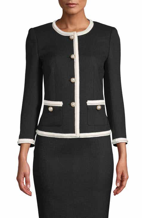 Anne Klein Braided Trim Jacket