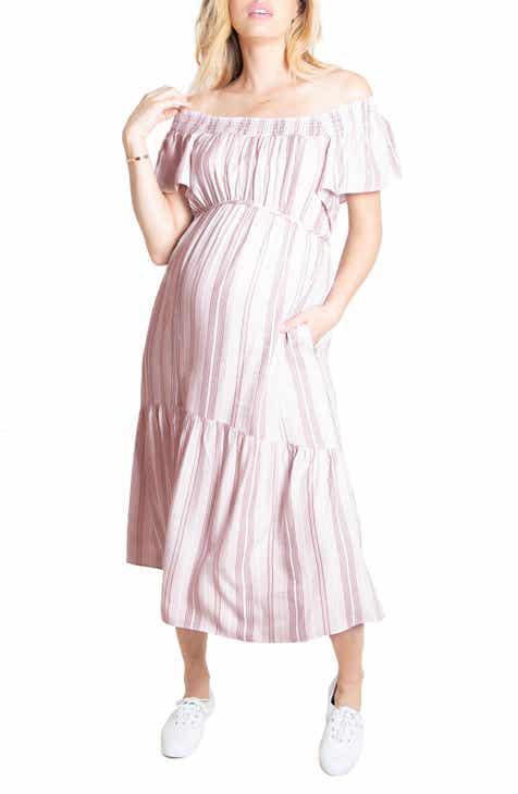 Ingrid & Isabel® Flutter Sleeve Maternity Midi Dress