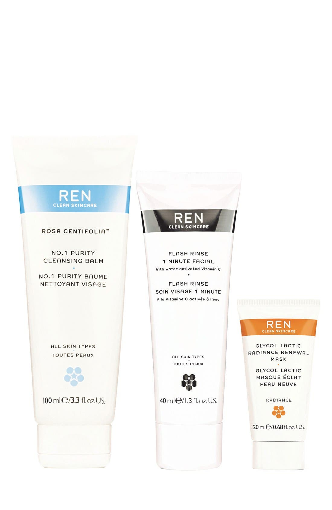 SPACE.NK.apothecary REN Pure Glow Trio (Limited Edition) ($79 Value)