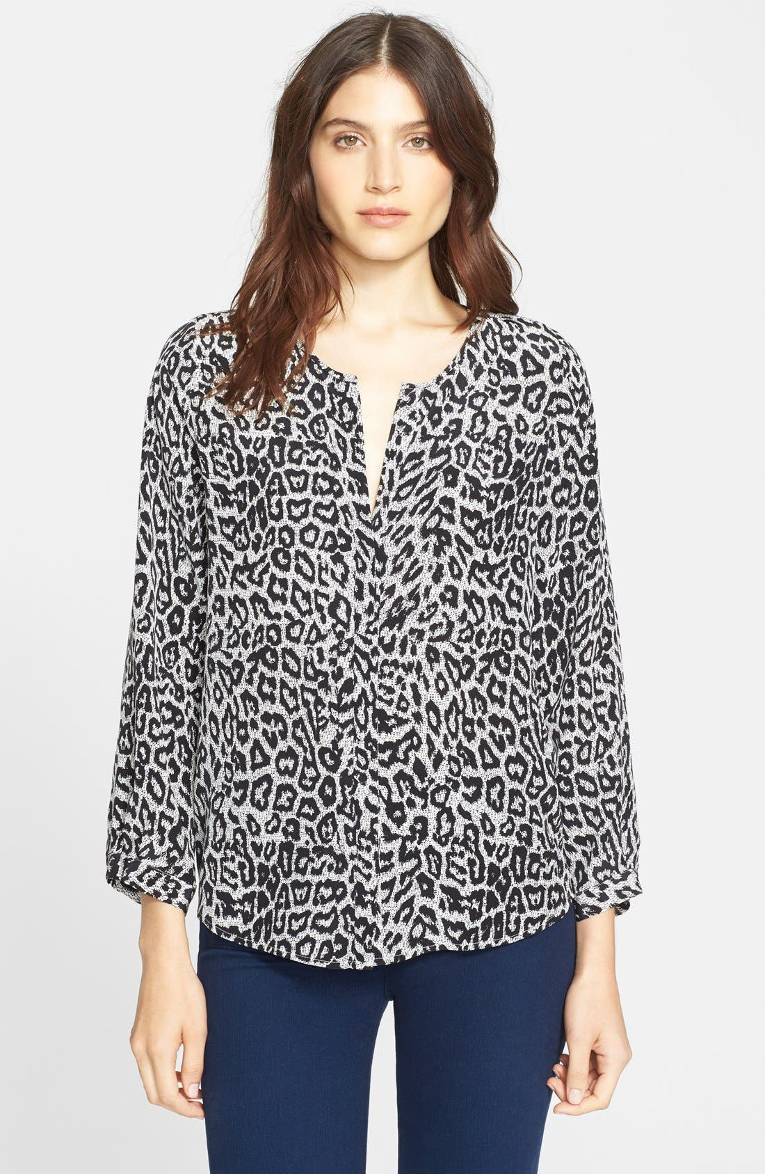 Alternate Image 1 Selected - Joie 'Purine' Animal Print Silk Blouse