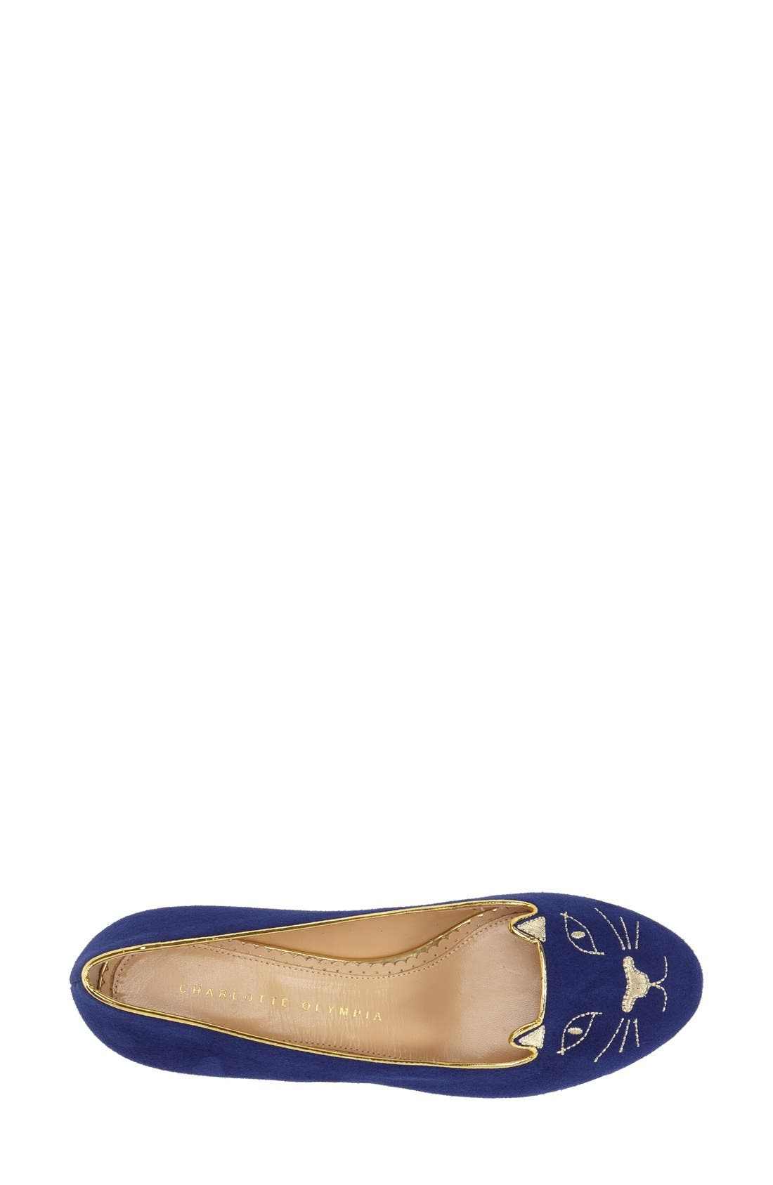 Alternate Image 4  - Charlotte Olympia 'Kitty' Suede Flat (Nordstrom Exclusive)