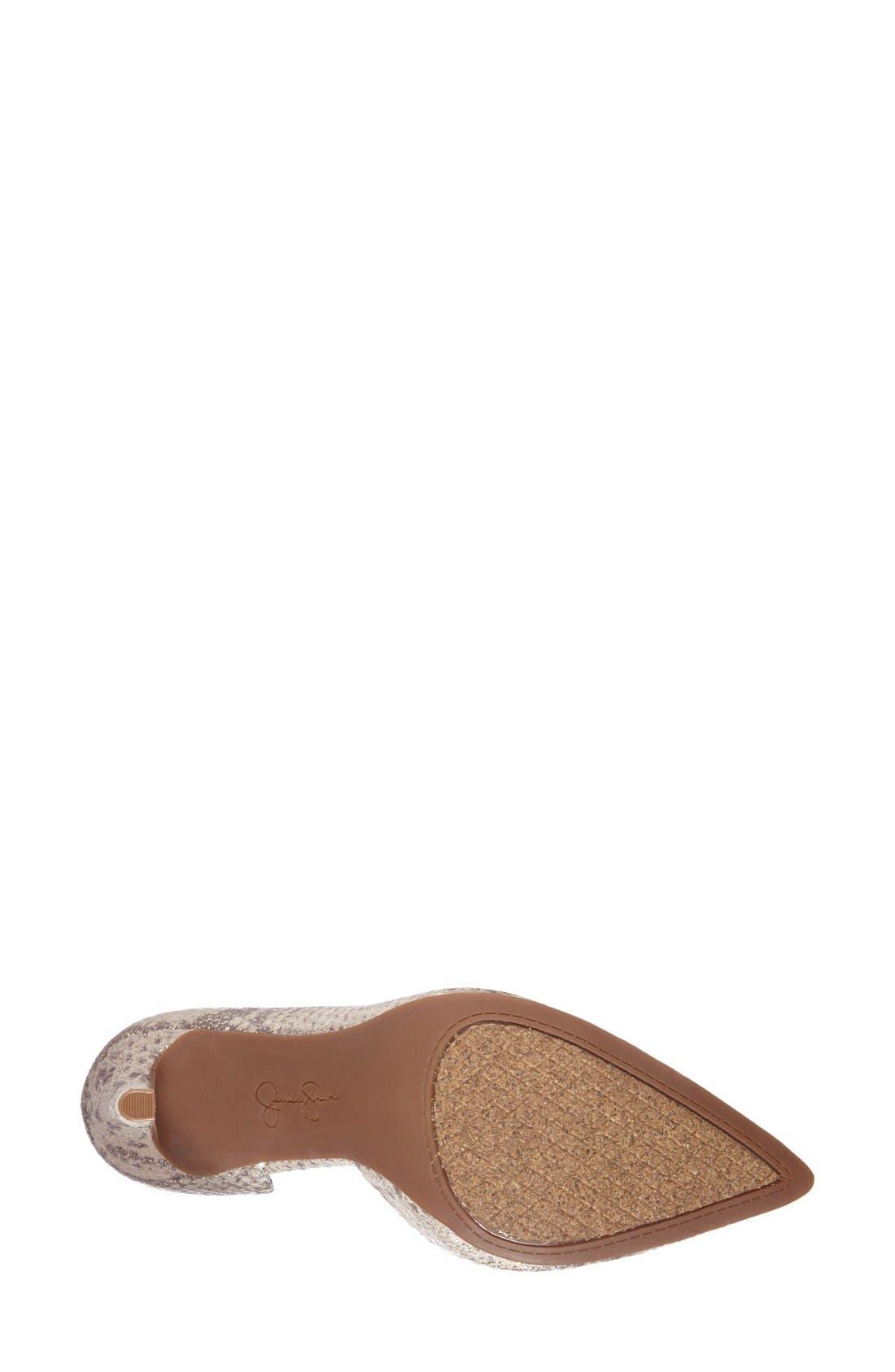 'Claudette' Half d'Orsay Pump,                             Alternate thumbnail 4, color,                             Natural/ Gold