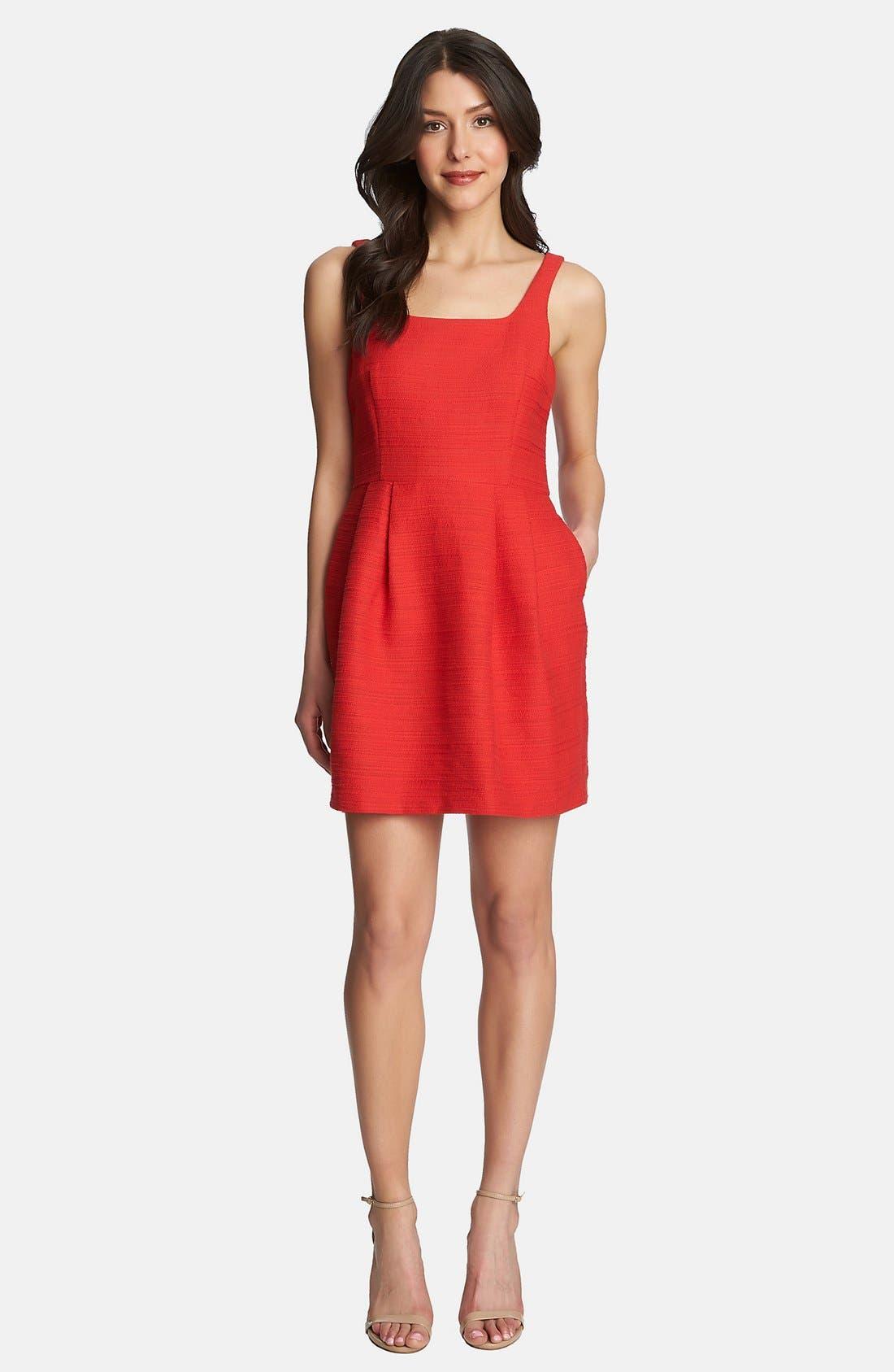Main Image - 1.STATE Square Neck Tweed Dress