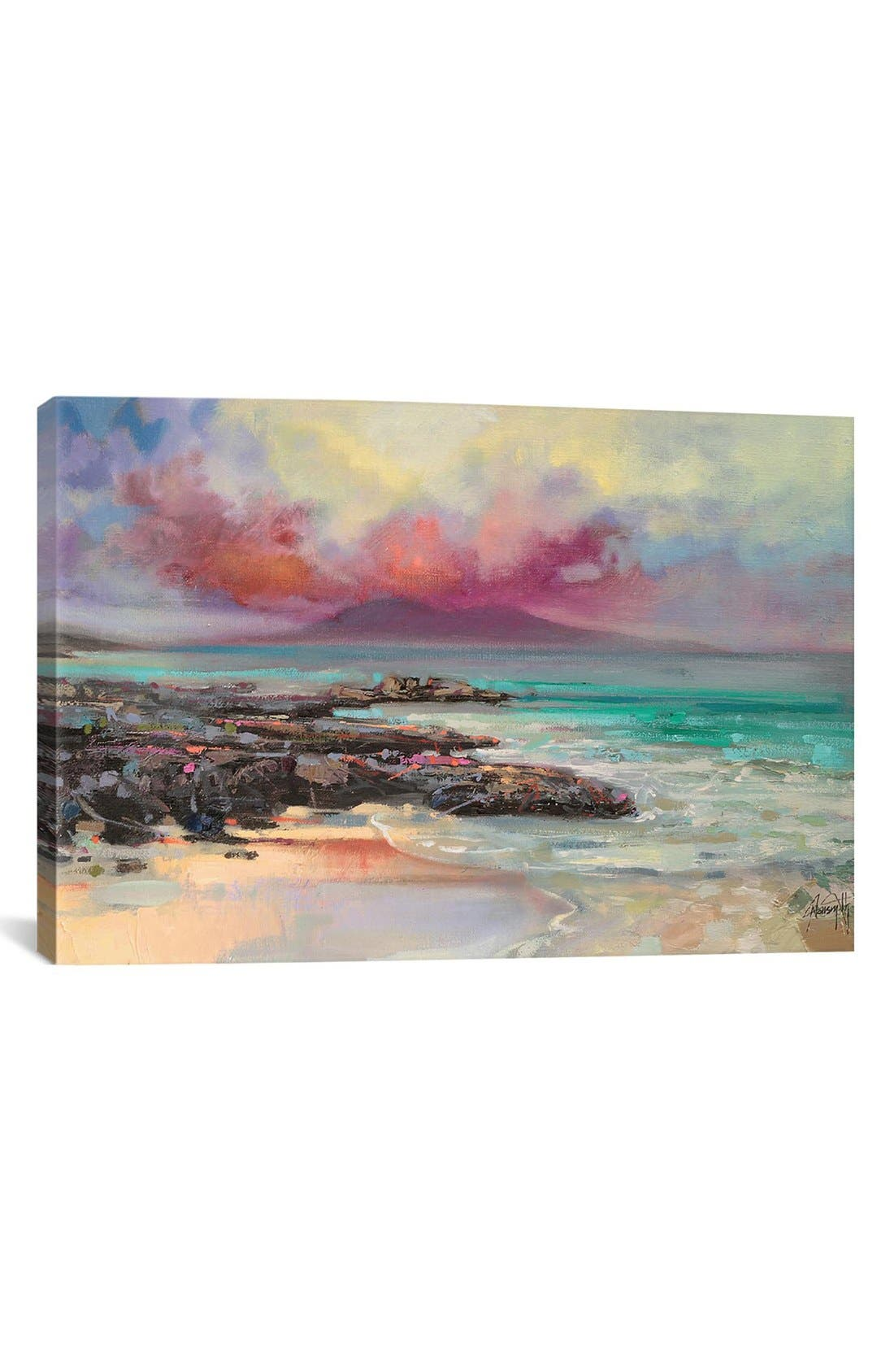 'Harris Rocks' Giclée Print Canvas Art,                         Main,                         color, Pink