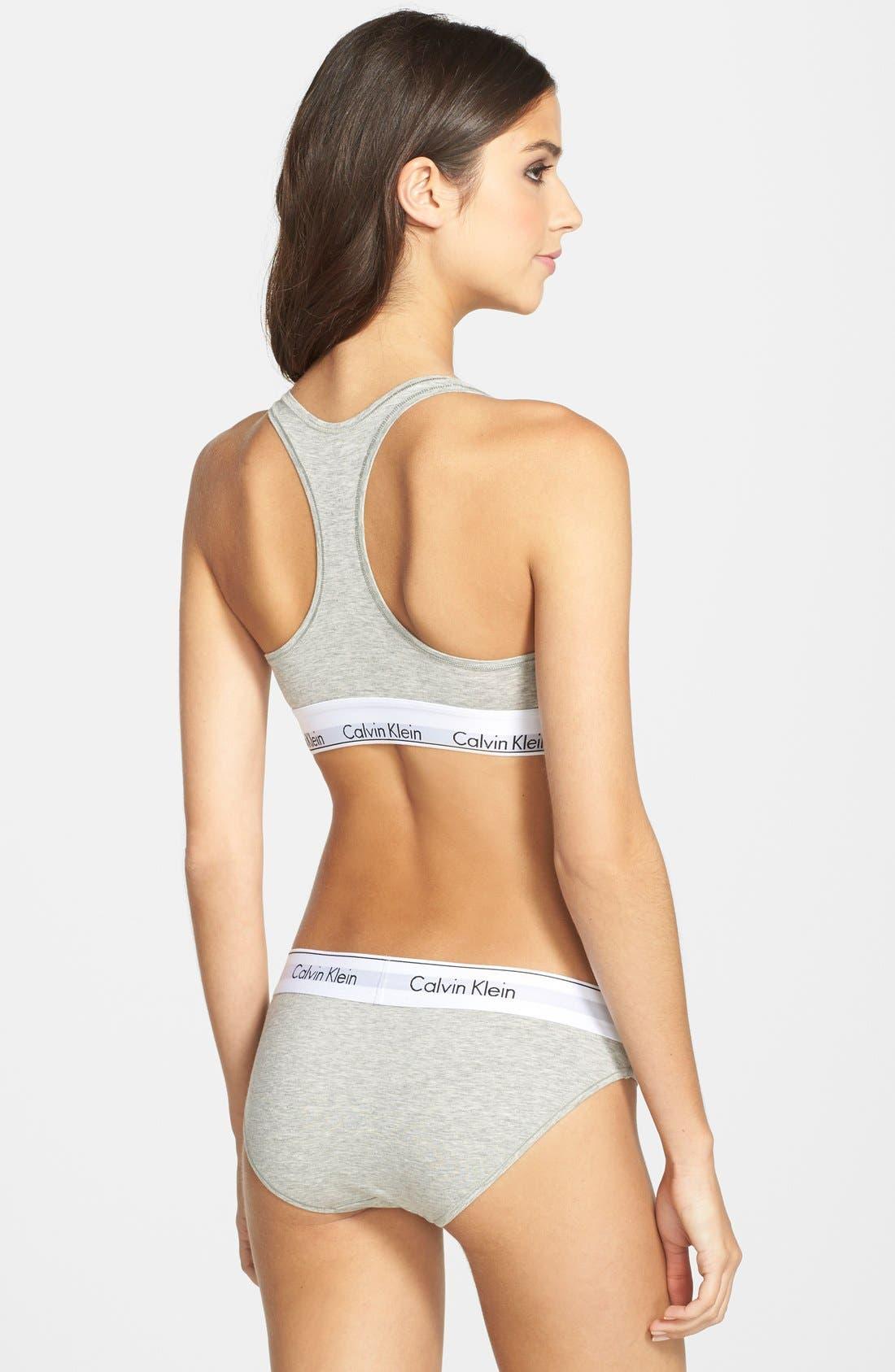 Alternate Image 8  - Calvin Klein 'Modern Cotton Collection' Cotton Blend Bikini