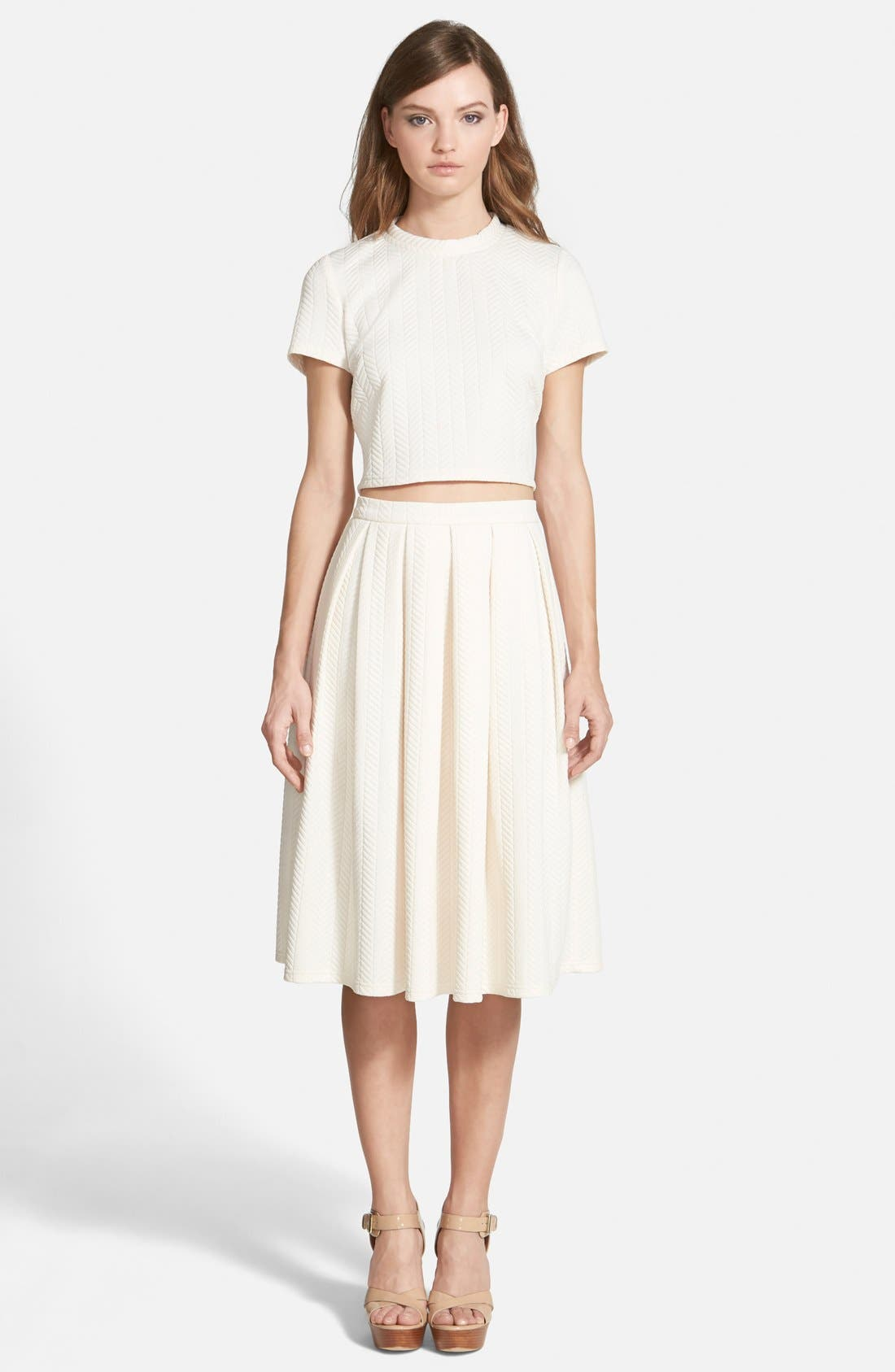 Alternate Image 3  - STOREE Textured Midi Skirt
