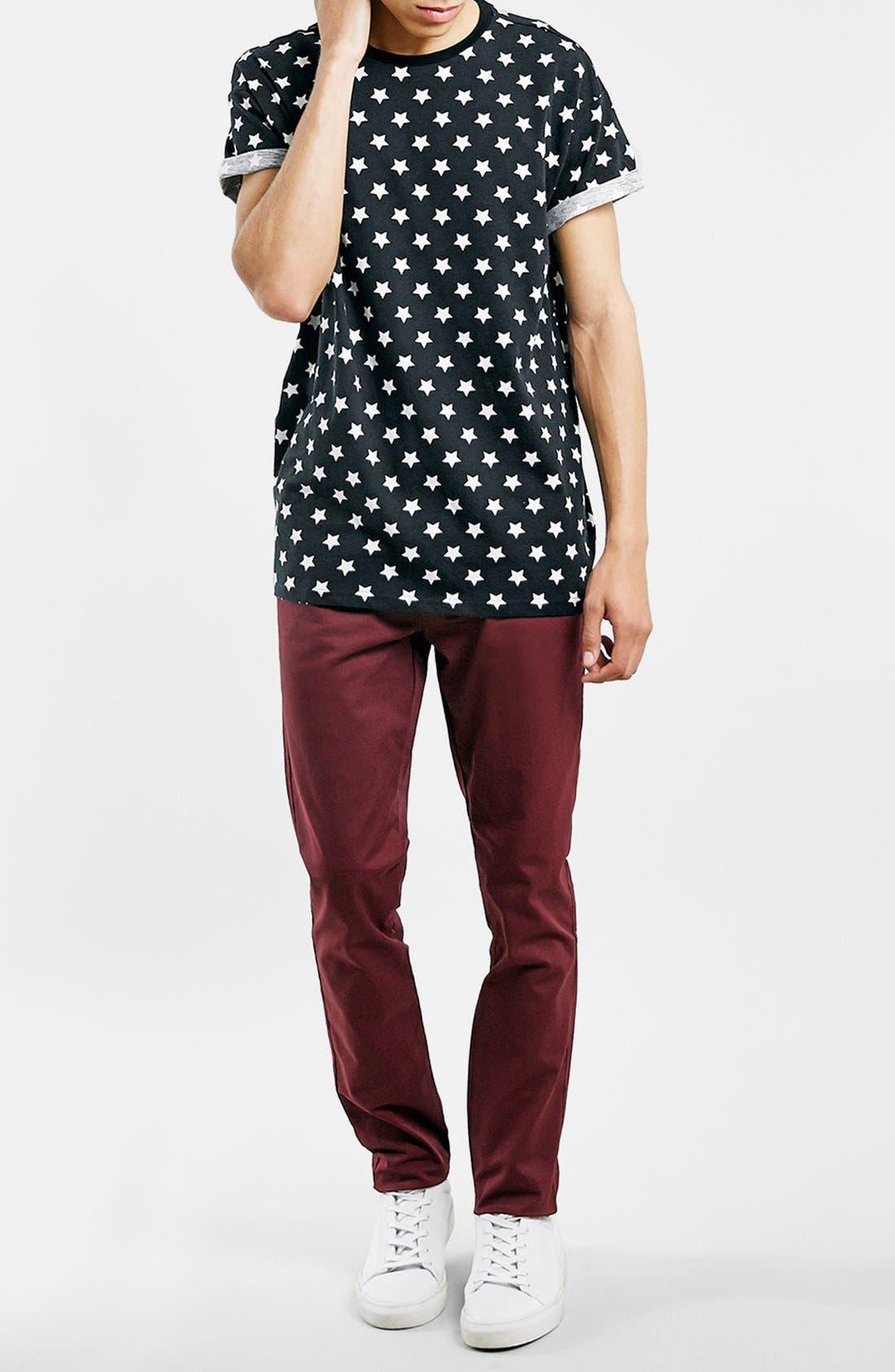 Alternate Image 4  - Topman Star Print Roller T-Shirt