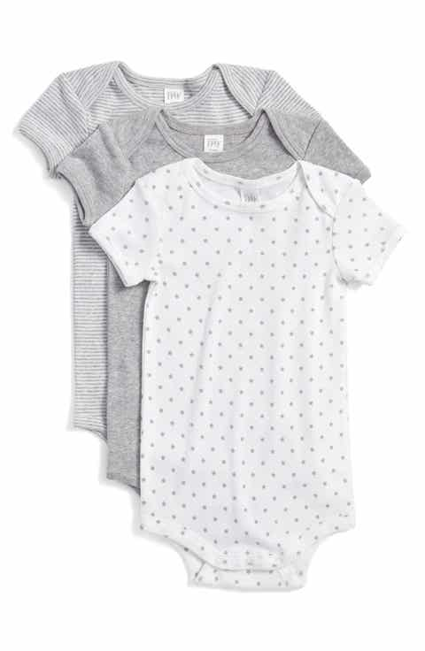 Newborn clothing essentials nordstrom nordstrom baby cotton bodysuits 3 pack baby negle Gallery