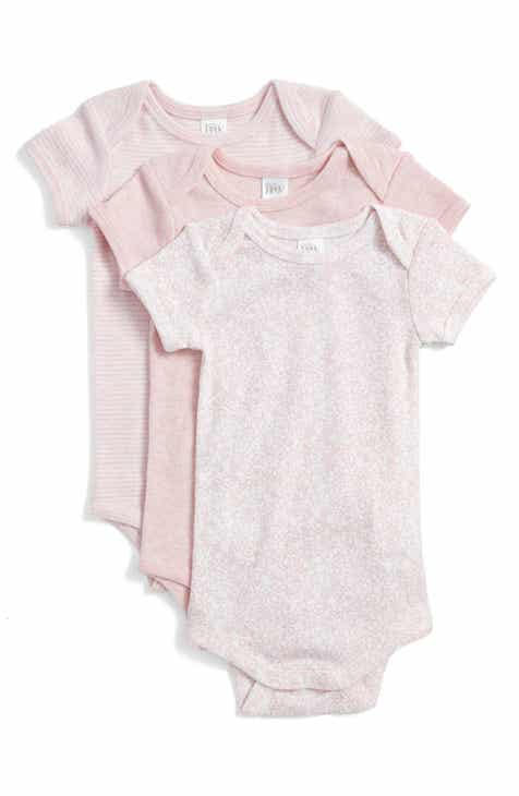 dcbf3d723f03 Nordstrom Baby Short Sleeve Cotton Bodysuits (3-Pack) (Baby Girls)