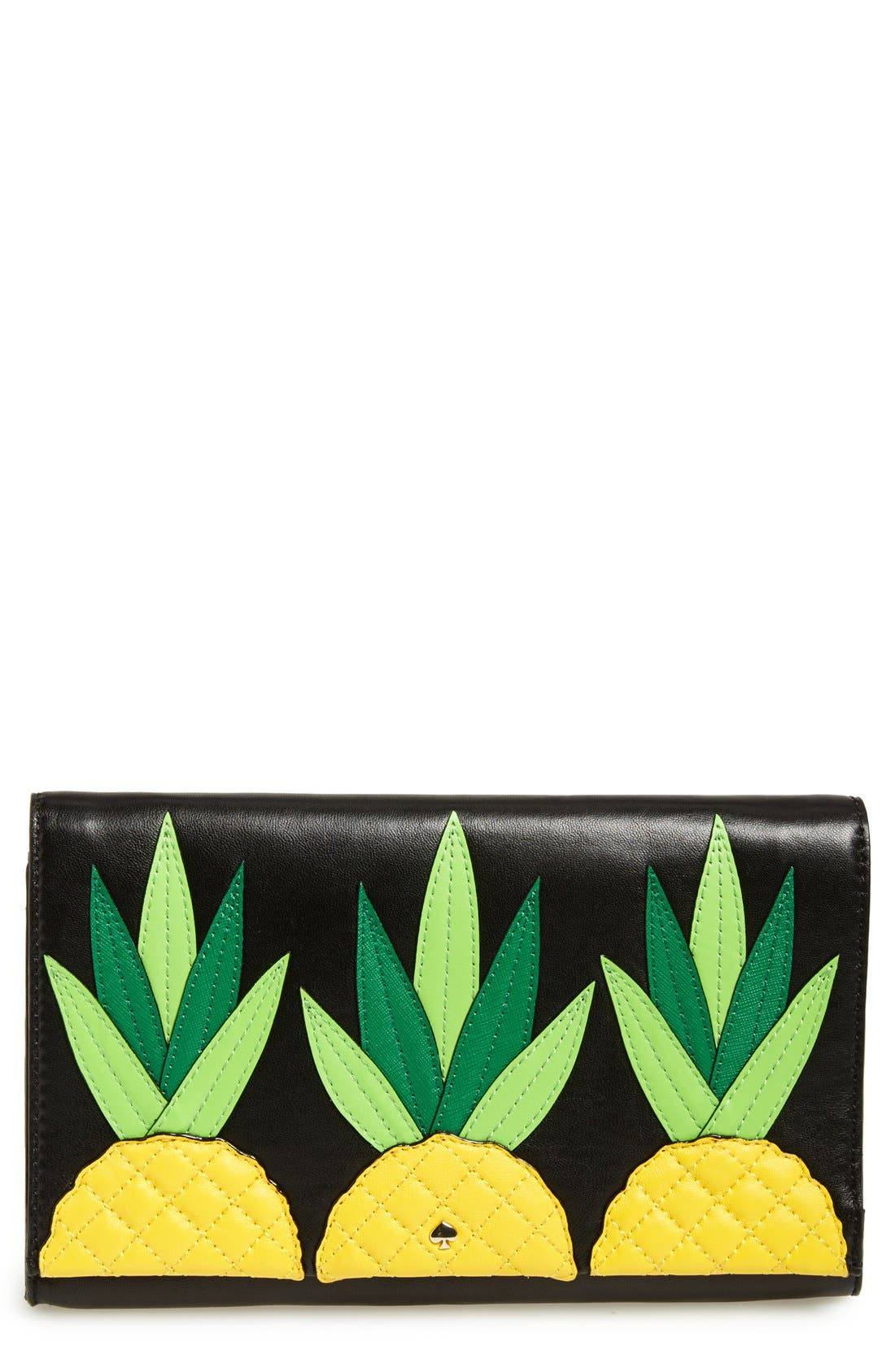 Main Image - kate spade new york 'wing it - tally' leather clutch