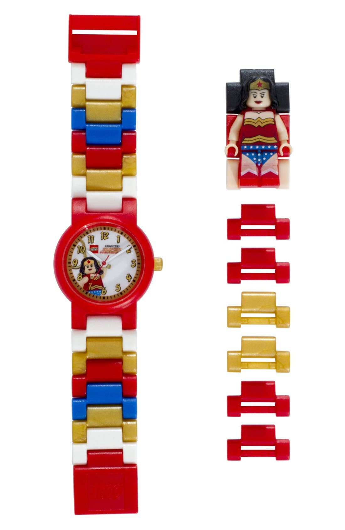 Alternate Image 1 Selected - LEGO® 'DC™ - Wonder Woman™' Character Watch & Figurine (Kids)
