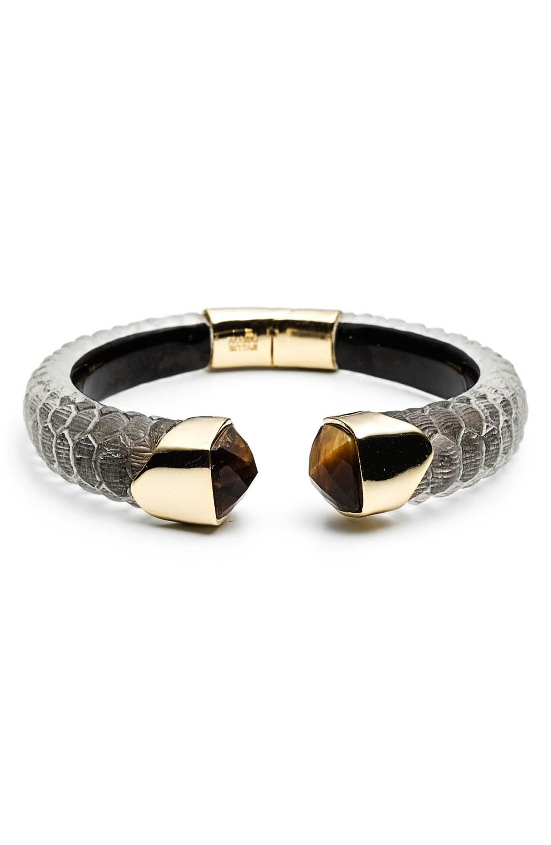 Alternate Image 1 Selected - Alexis Bittar 'Lucite® - Crocodile' Hinged Bracelet