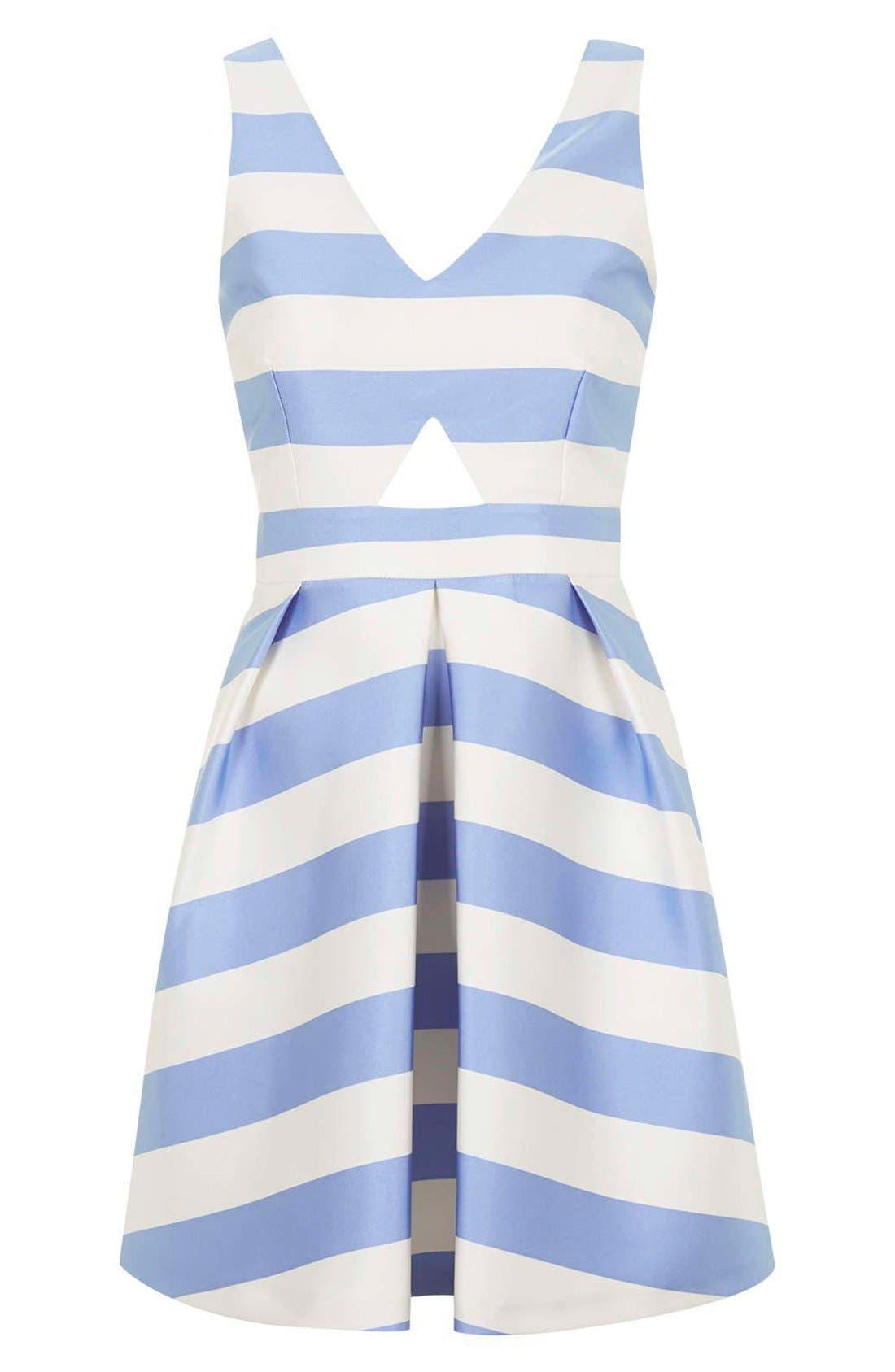 Alternate Image 3  - Topshop Stripe V-Neck Cutout Dress