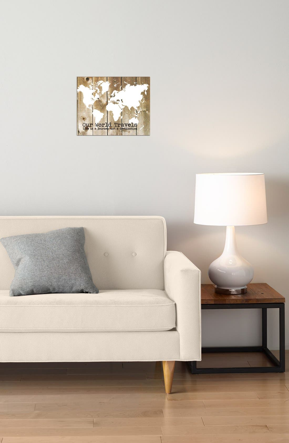 'Our World Travels' Canvas Wall Art,                             Alternate thumbnail 3, color,