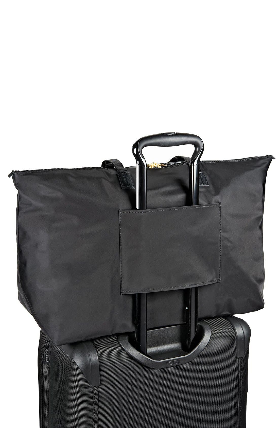 Just in Case Nylon Travel Tote,                             Alternate thumbnail 3, color,                             Black