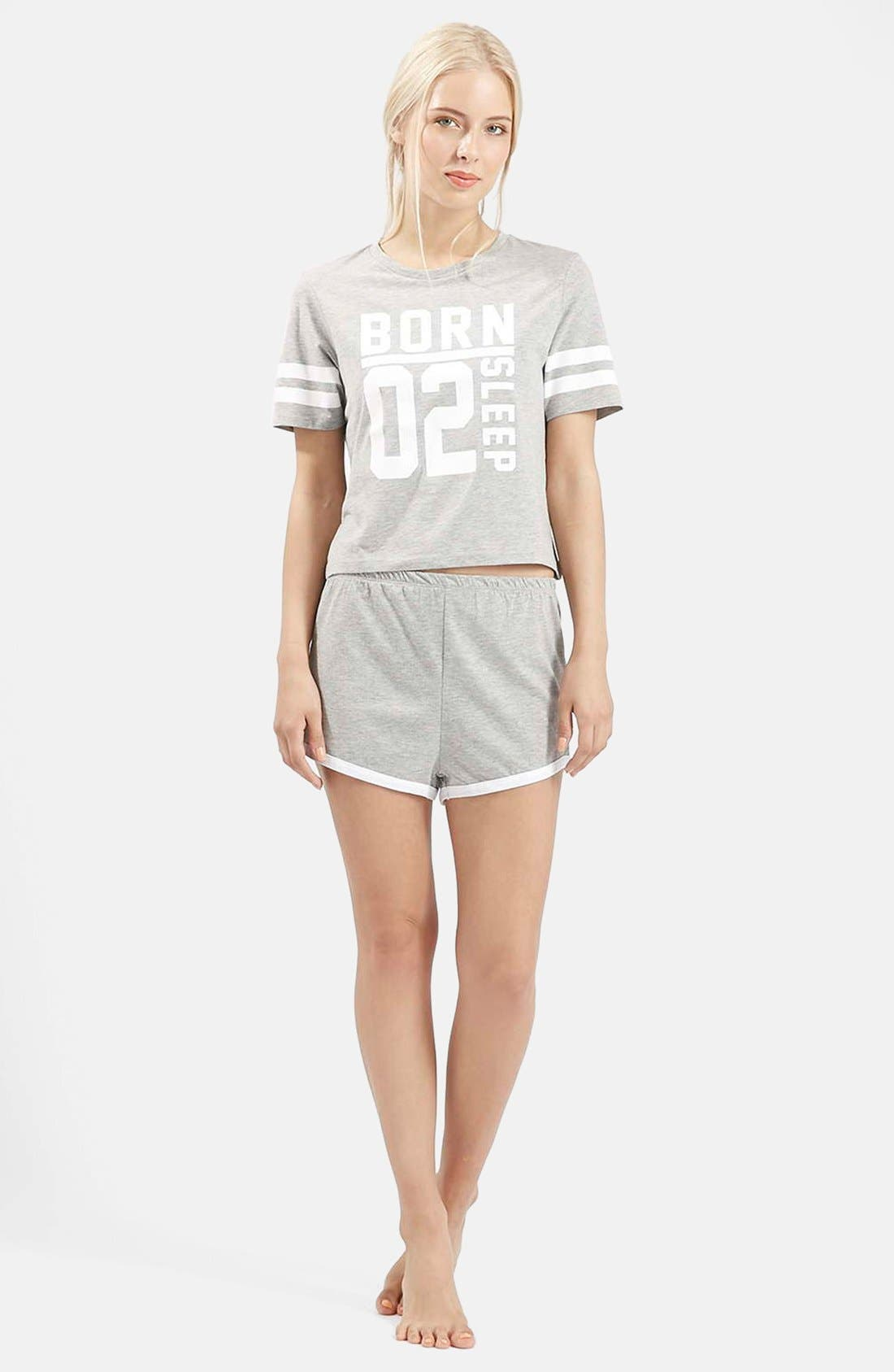 Alternate Image 5  - Topshop 'Born to Sleep' Short Pajamas